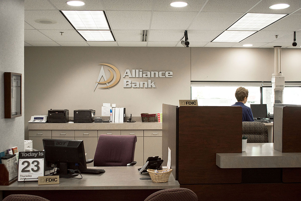 Visit Alliance Bank to set up an account today.