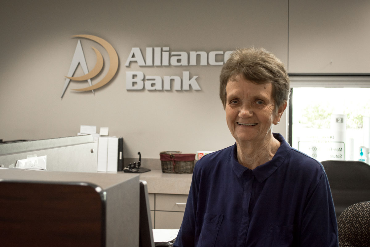 Donna Senecal, Alliance Bank Teller